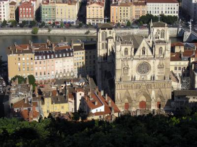 View of St Jean's Cathedral Old Lyon France